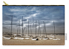 Boats On Beach In Duo-tone Carry-all Pouch