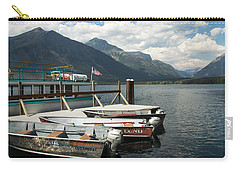 Boats On Lake Mcdonald Carry-all Pouch
