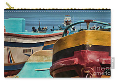 Boats On The Beach - Puerto Lopez - Ecuador Carry-all Pouch