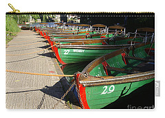 Carry-all Pouch featuring the photograph Boats Waiting For Kids by Doc Braham