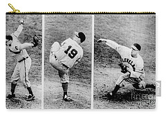 Bob Feller Pitching Carry-all Pouch by R Muirhead Art