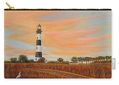 Carry-all Pouch featuring the painting Bodie Island Lighthouse by Fran Brooks