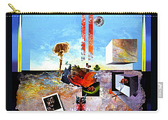 Carry-all Pouch featuring the painting Bogomil Objects by Otto Rapp