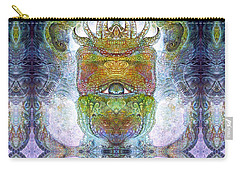 Carry-all Pouch featuring the digital art Bogomil Variation 15 by Otto Rapp