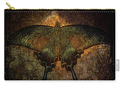 Carry-all Pouch featuring the digital art Bohemia Butterfly - Art Nouveau by Absinthe Art By Michelle LeAnn Scott