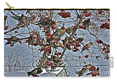 Bohemian Waxwing Feast Carry-all Pouch