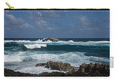 Boiling The Ocean At Laie Point - North Shore - Oahu - Hawaii Carry-all Pouch by Georgia Mizuleva