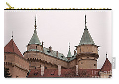 Carry-all Pouch featuring the photograph Bojnice Castle by Les Palenik