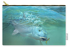 Carry-all Pouch featuring the painting Bone Fish by Rob Corsetti