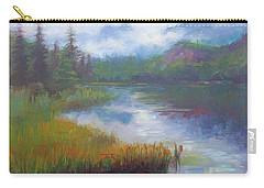 Bonnie Lake - Alaska Misty Landscape Carry-all Pouch