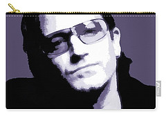 Bono Portrait Carry-all Pouch by Dan Sproul