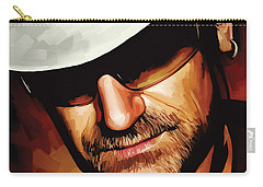 Bono U2 Artwork 3 Carry-all Pouch by Sheraz A