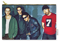 Bono U2 Artwork 5 Carry-all Pouch by Sheraz A