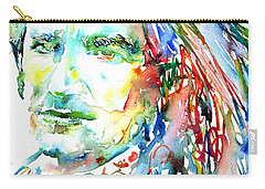 Bono Watercolor Portrait.2 Carry-all Pouch by Fabrizio Cassetta