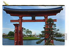 Carry-all Pouch featuring the photograph Bonsai Pavillion by David Nicholls