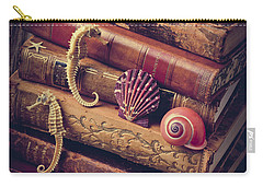 Books And Sea Shells Carry-all Pouch