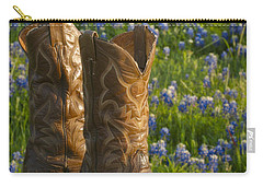 Boots And Bluebonnets Carry-all Pouch by David and Carol Kelly
