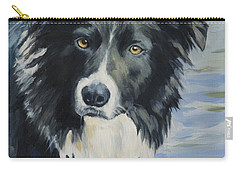 Border Collie Portrait Carry-all Pouch