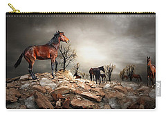 Born To Be Wild Carry-all Pouch by Davandra Cribbie