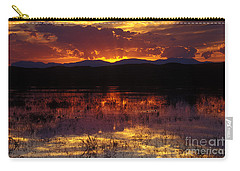 Bosque Sunset - Orange Carry-all Pouch