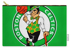 Boston Celtics Canvas Carry-all Pouch by Dan Sproul