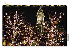 Boston Custom House With Christmas Lights Carry-all Pouch