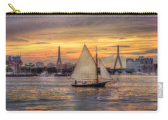 Boston Harbor Sunset Sail Carry-all Pouch by Joann Vitali