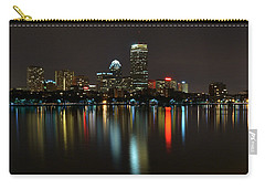 Boston Skyline By Night Carry-all Pouch