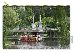 Boston Swan Boat Carry-all Pouch by Christiane Schulze Art And Photography