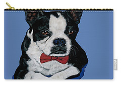 Boston Terrier With A Bowtie Carry-all Pouch