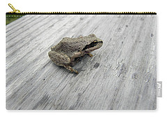 Carry-all Pouch featuring the photograph Botanical Gardens Tree Frog by Cheryl Hoyle