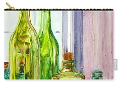 Bottles - Shades Of Green Carry-all Pouch
