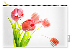 Tulips Flower Bouque In Digital Watercolor Carry-all Pouch