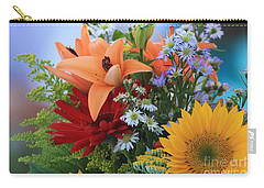 Carry-all Pouch featuring the photograph Bouquet Of Flowers by Geraldine DeBoer