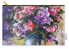 Carry-all Pouch featuring the painting Bouquet Of Scents by Vesna Martinjak
