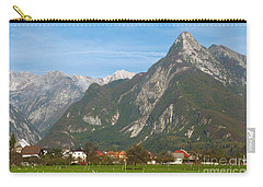 Carry-all Pouch featuring the photograph Bovec In Slovenia by Phil Banks