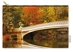 Carry-all Pouch featuring the photograph Bow Bridge Beauty by Jessica Jenney