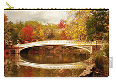 Carry-all Pouch featuring the photograph Bow Bridge Reflected by Jessica Jenney