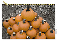 Carry-all Pouch featuring the photograph Bowling For Pumpkins by David Millenheft