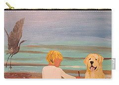 Boy And Dog Carry-all Pouch