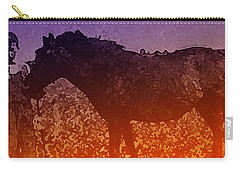 Carry-all Pouch featuring the digital art Boy With Horse by Cathy Anderson