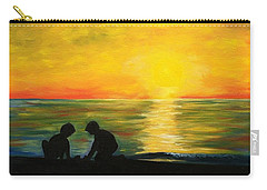 Boys In The Sunset Carry-all Pouch