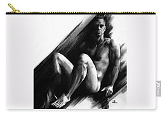 Carry-all Pouch featuring the drawing Bradley by Paul Davenport