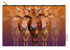 Brahman Cow Carry-all Pouch by Jean luc Comperat
