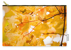 Branching Yellow Carry-all Pouch by Melinda Ledsome