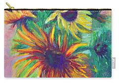 Brandy's Sunflowers - Still Life On Windowsill Carry-all Pouch