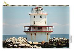Brandywine Shoal  Lighthouse Carry-all Pouch by Nick Zelinsky