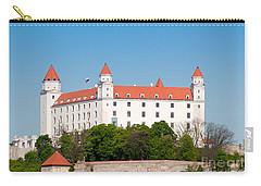 Carry-all Pouch featuring the photograph Bratislava Castle by Les Palenik