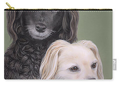 Carry-all Pouch featuring the painting Brea And Randy by Jane Girardot