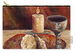 Bread And Wine Carry-all Pouch by Lou Ann Bagnall